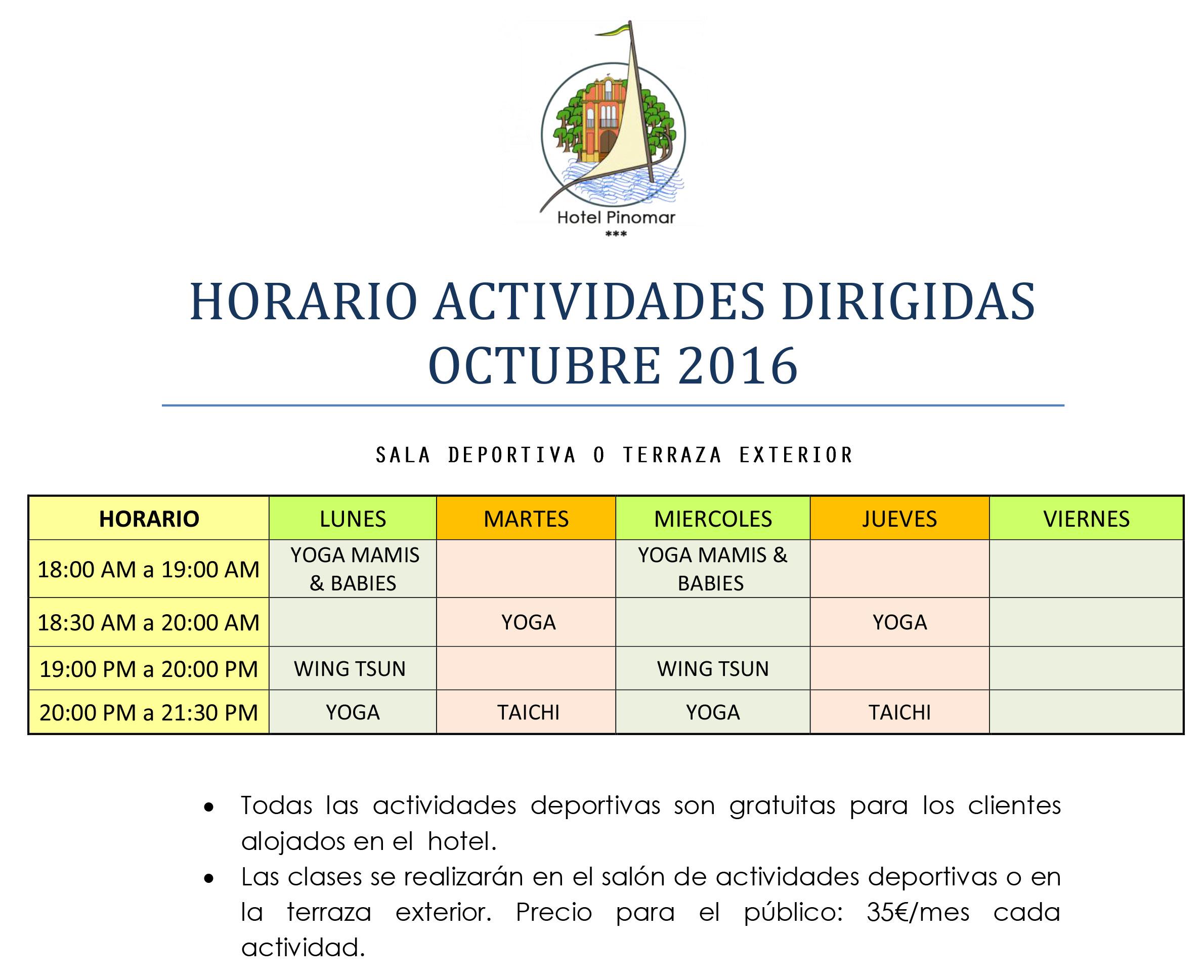 horario-actividades-dirigidas-octubre-2016