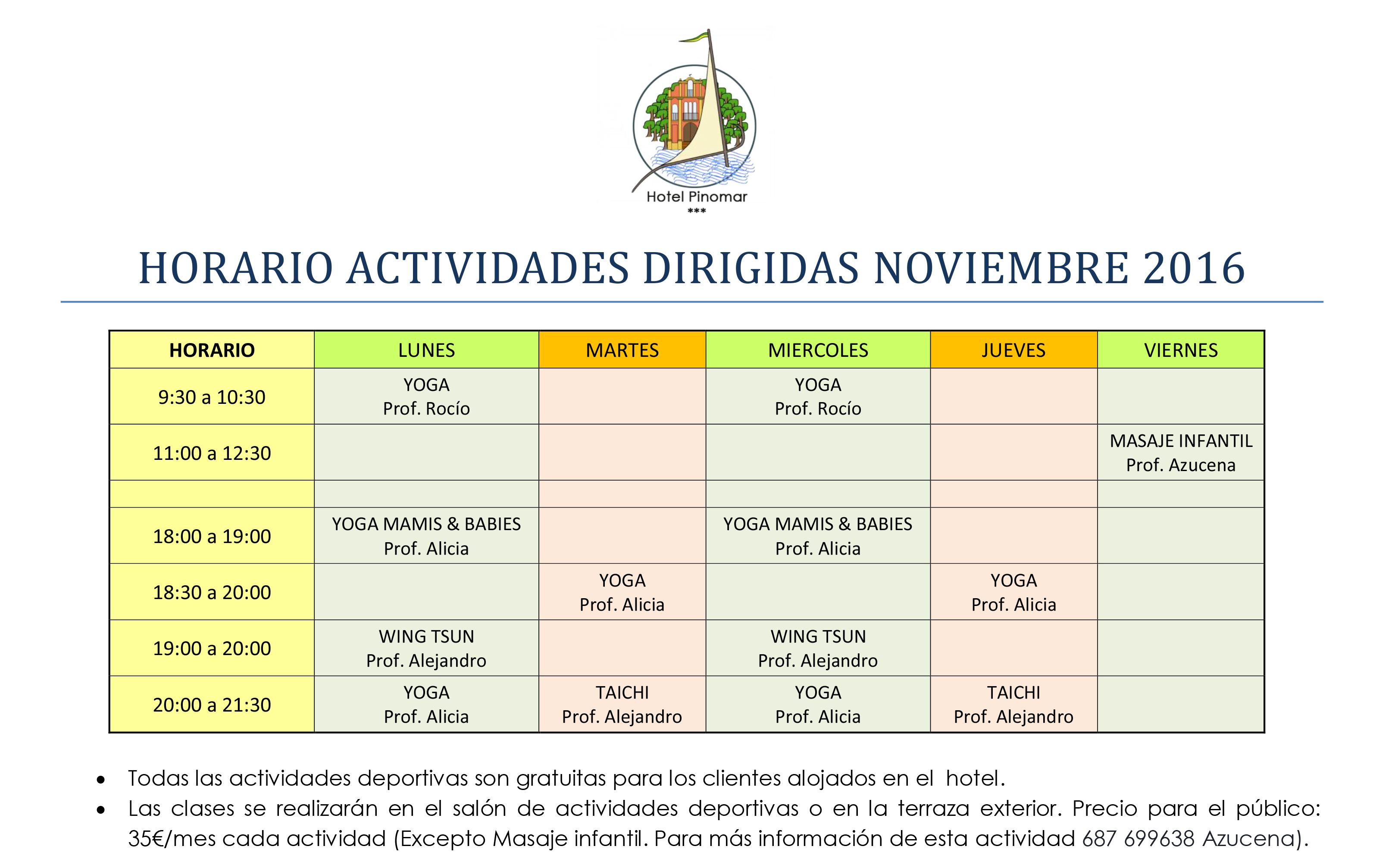 horario-actividades-dirigidas-noviembre-2016