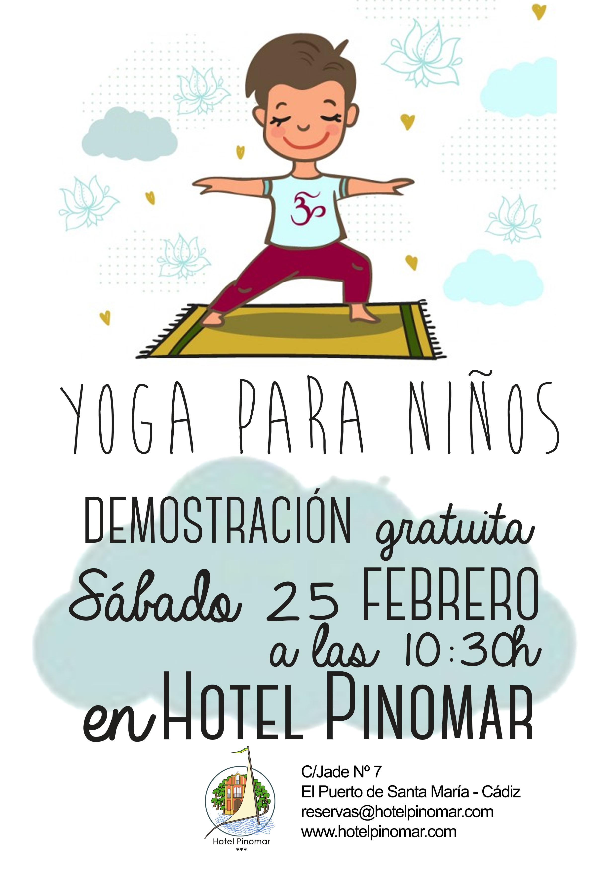demostración yoga niños