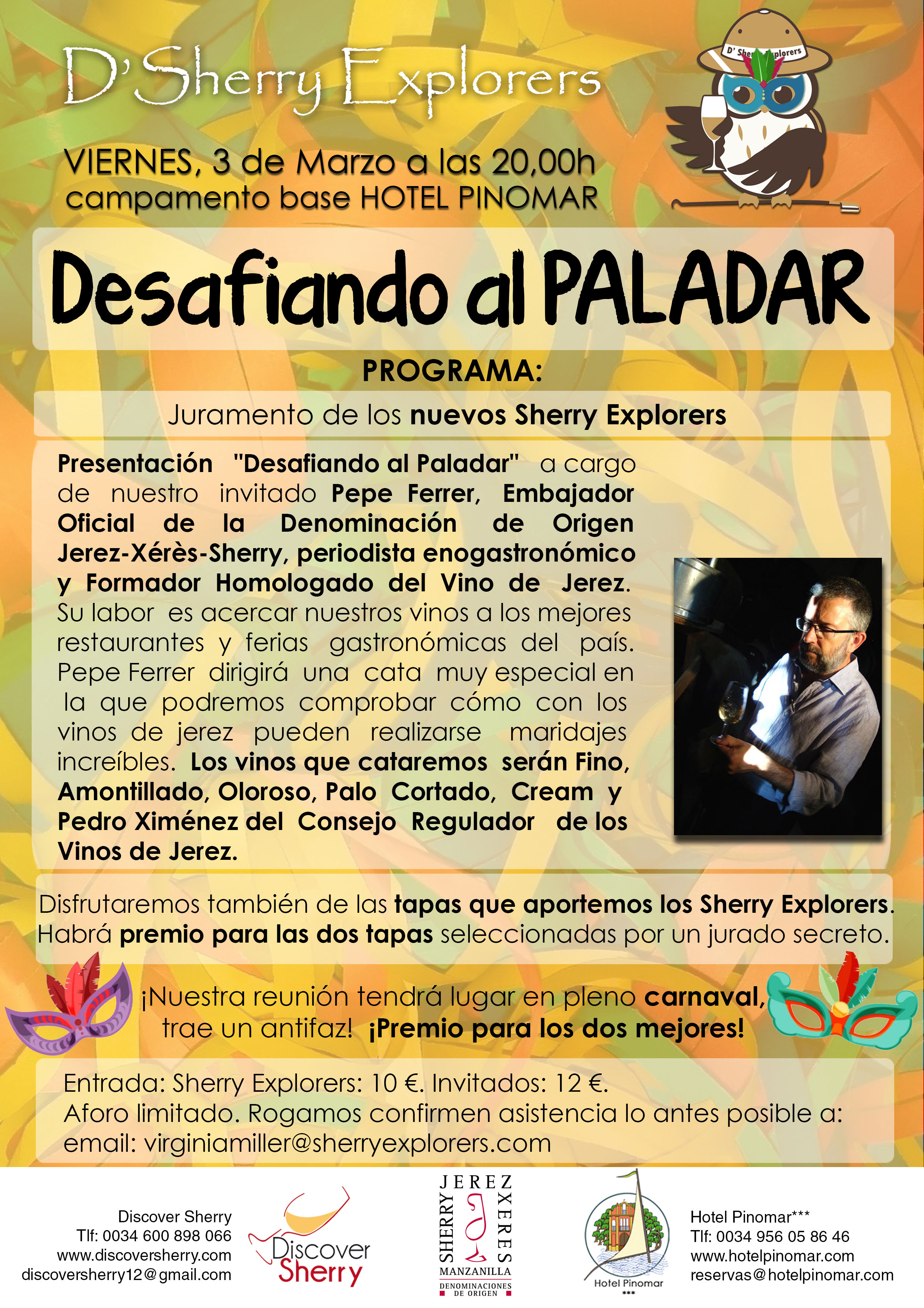 sherry explorers marzo flyer