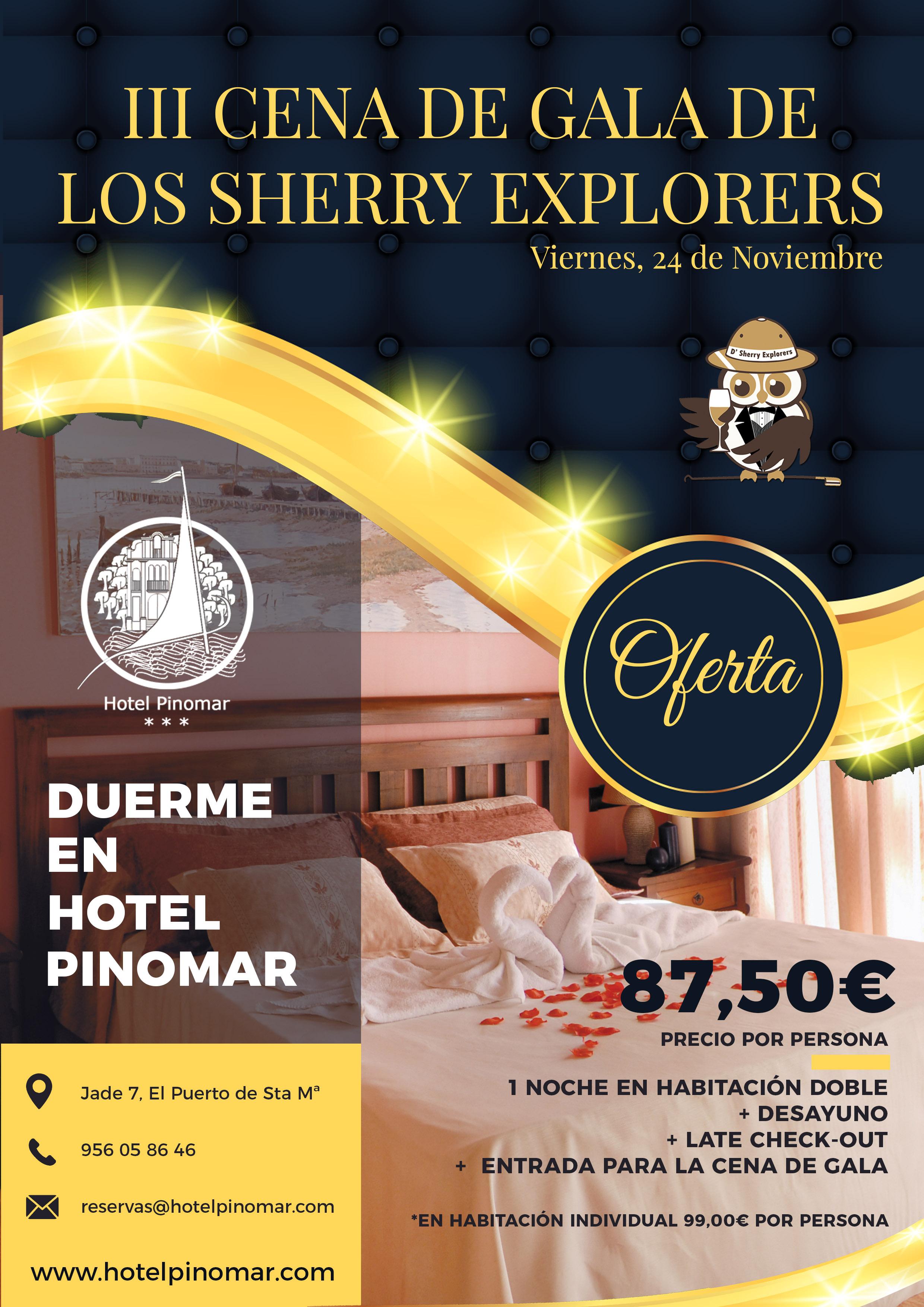 oferta alojamiento cena gala 2017