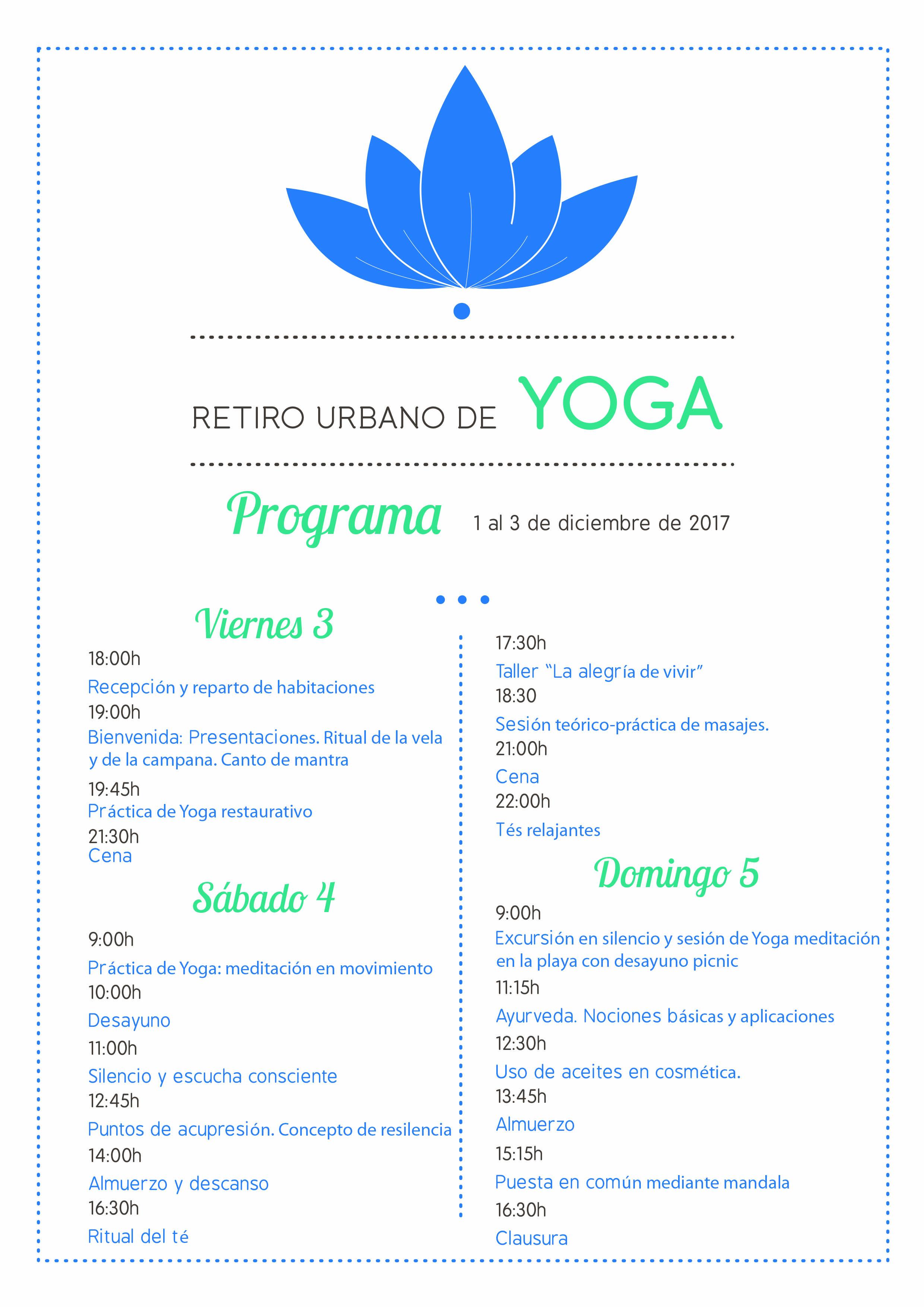 programa retiro urbano yoga