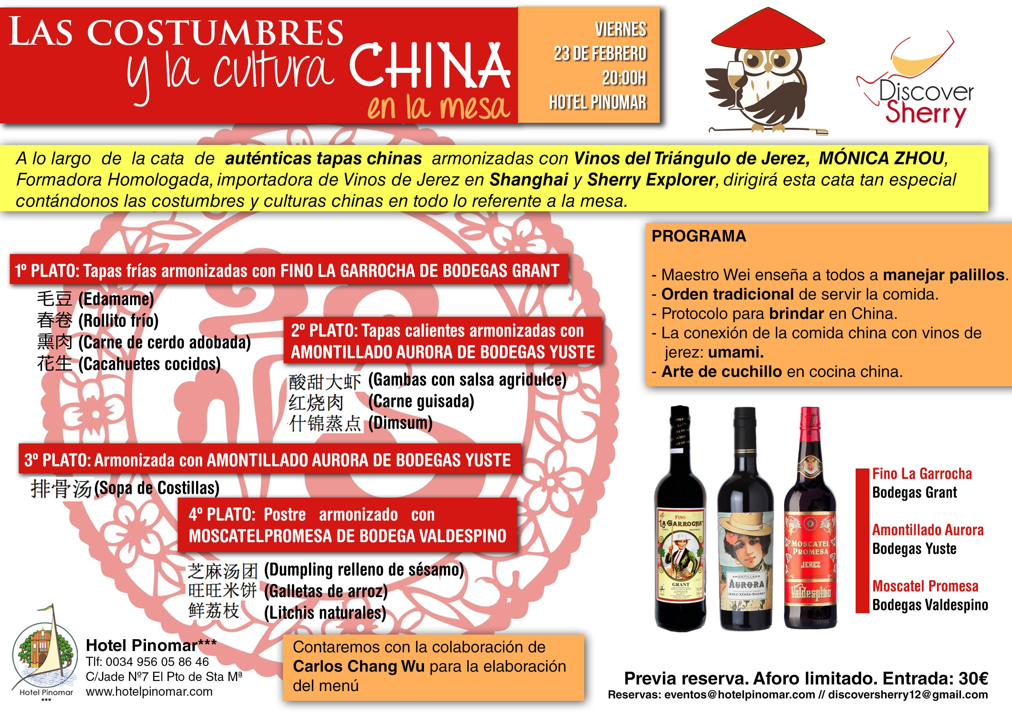 cata comida china febrero FONDO ROJO EN CHINO