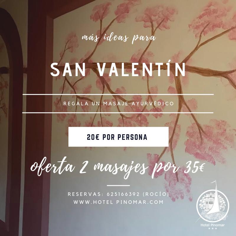 Oferta masaje ayurvédico parejas san valentín
